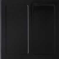 Black Porcelain Enamel firebox panel swatch
