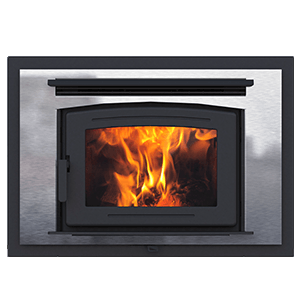FP16 Arch zero clearance wood burning fireplace with stainless surround