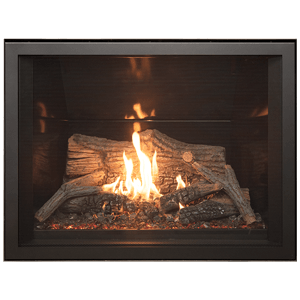 Tofino z35 zero clearance gas fireplace with log burner