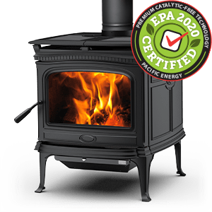 Alderlea T5 LE wood stove featuring cast iron over steel technology