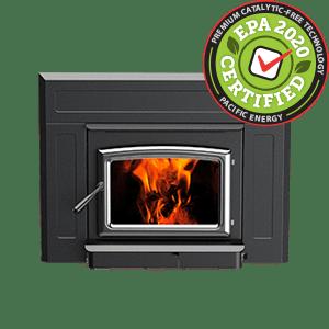 Vista Insert LE Wood Burning Insert with Nickel door
